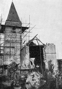 eglise en reconstruction